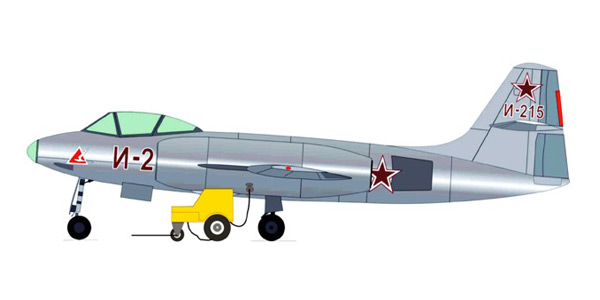 Alexeyev I-215 (with start car and airfield)